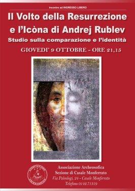 """Icona Invito per l'evento """"Il Volto della Resurrezione e l'Icona di Andrej Rublev"""""""