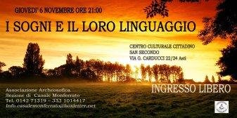 I SOGNI E IL LORO LINGUAGGIO · CASALE MONFERRATO