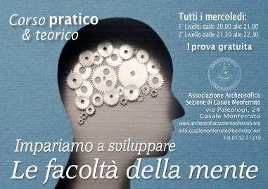 LE FACOLTA' DELLA MENTE · CASALE MONFERRATO