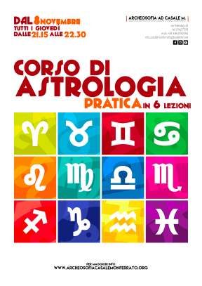 Corso di Astrologia a Casale Monferrato. Per informazioni, telefono 0142.71319 e 338.4092394.