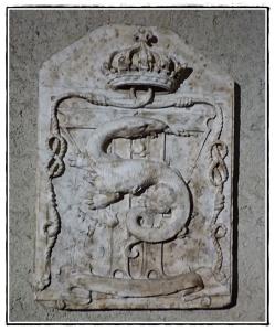 Salamandra presso il Castello di Cognac - Francia