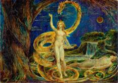 Eva tentata dal serpente - Illustrazione di William Blake