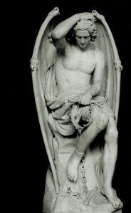 Scultura rappresentante Lucifero Cattedrale San Paolo Liegi Belgio